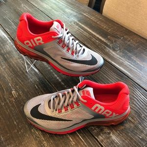 Nike Excellerate 2 Air Max Shoes Gray Red Mens 9.5